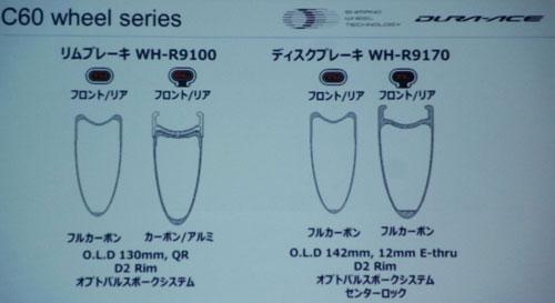 SHIMANO WH-R9100 WH-R9170 C60 SERIES Dura Ace WHEEL(シマノ デュラエース 60mm ホイール )