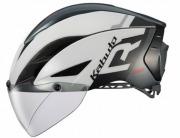 OGK KABUTO HELMET AERO-R1 WHITE DARK GRAY OGK カブト ヘルメット エアロ-R1 ホワイトダークグレー