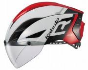 OGK KABUTO HELMET AERO-R1 WHITE RED OGK カブト ヘルメット エアロ-R1 ホワイトレッド