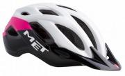 MET CROSSOVER WHITEPINKBLACK メット クロスオーバー ホワイトピンクブラック シティバイク用 ヘルメット