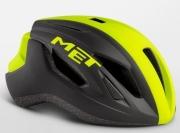 MET STRALE BLACKSAFETYYELLOWPANEL メット ストラーレ ブラックセーフティイエローパネル  ロードバイク用 ヘルメット